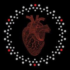 heart geometric black t-shirt