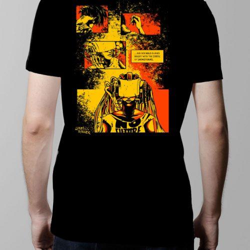 Sawn offs Graphic Novel T-shirt - Men's black (back)
