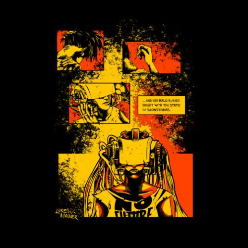 sawn offs graphic novel t-shirt - back