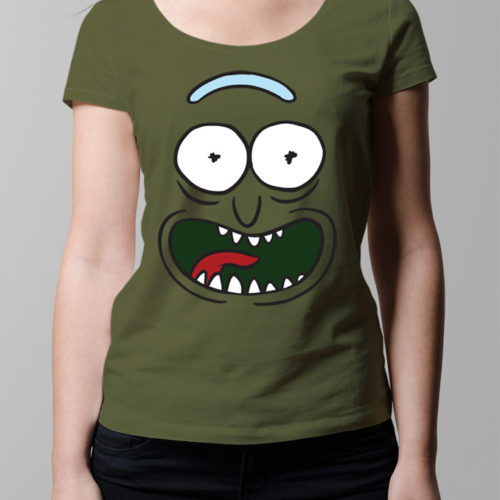 Pickle Rick and Morty Ladies' T-shirt - olive