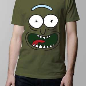 Pickle Rick and Morty Men's T-shirt - olive
