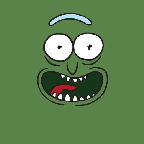 pickle rick olive t-shirt
