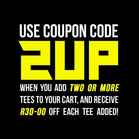Tshirt Terrorist 2up cart discount t-shirt coupon code