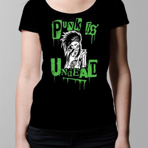 Punk Is Undead Ladies' T-shirt - black