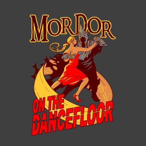 mordor on the dancefloor charcoal t-shirt