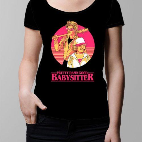 Stranger Things Season 2 Dustin and Steve Ladies' T-shirt - black