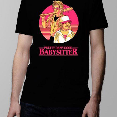 Stranger Things Season 2 Dustin and Steve Men's T-shirt - black