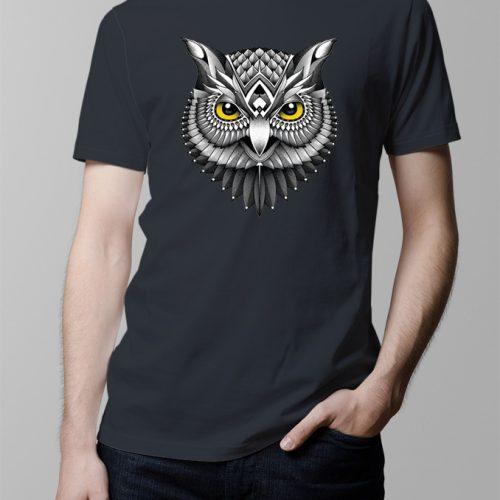 Owl Men's T-shirt - Charcoal