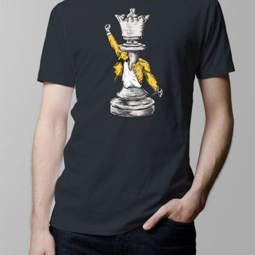 Queen Men's T-shirt - Charcoal