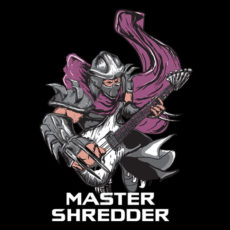 master shredder black t-shirt