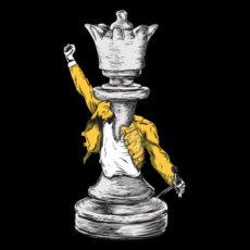 queen freddie mercury black tshirt