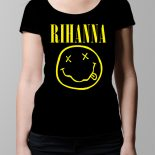 Rihanna Nirvana Ladies' T-shirt – black