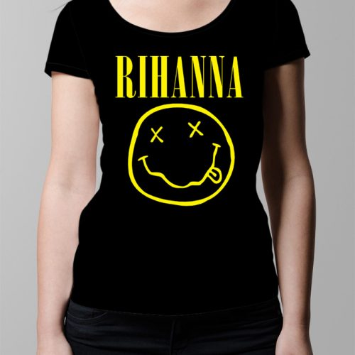 Rihanna Nirvana Ladies' T-shirt - black