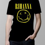 Rihanna Nirvana Men's T-shirt – black
