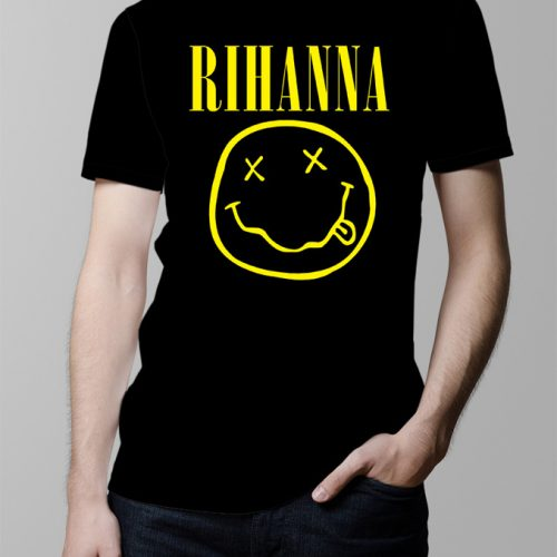 Rihanna Nirvana Men's T-shirt - black
