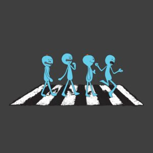 mr meeseeks rick and morty charcoal t-shirt