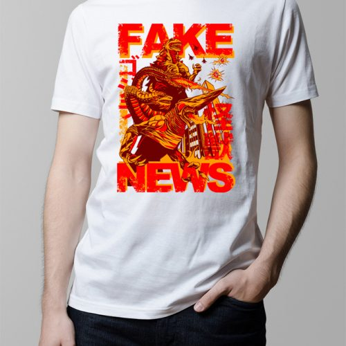 Fake News Kaiju Men's T-shirt - natural