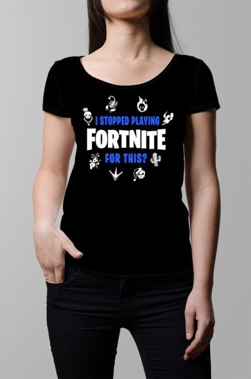 Fortnite Battle Royale Ladies' T-shirt - black