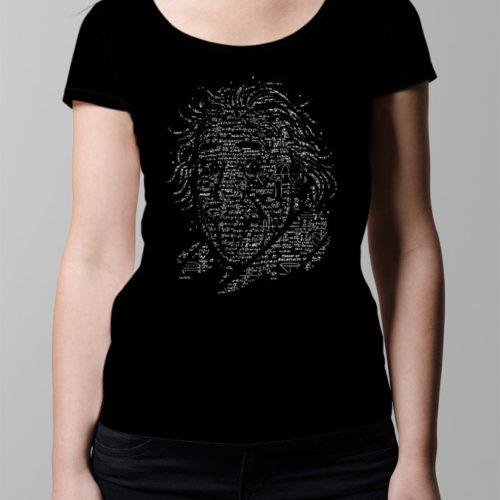 Albert Einstein Ladies' T-shirt - black