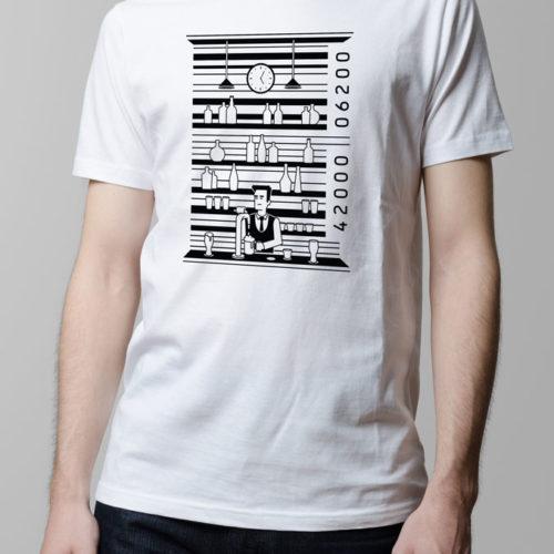 Barcode Drinking Men's T-shirt - white