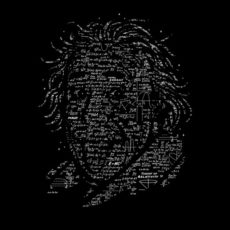 Albert Einstein black t-shirt