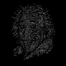 Albert Einstein black t-shirt