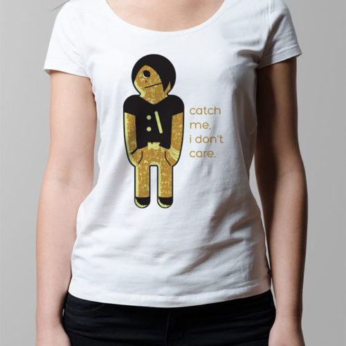 Emo Gingerbread Kid Ladies' T-shirt - white
