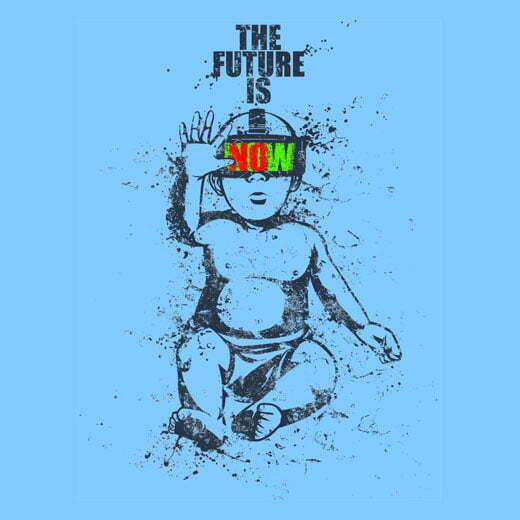 the future sky blue t-shirt