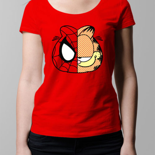 Garfield Spiderman Ladies' T-shirt - red