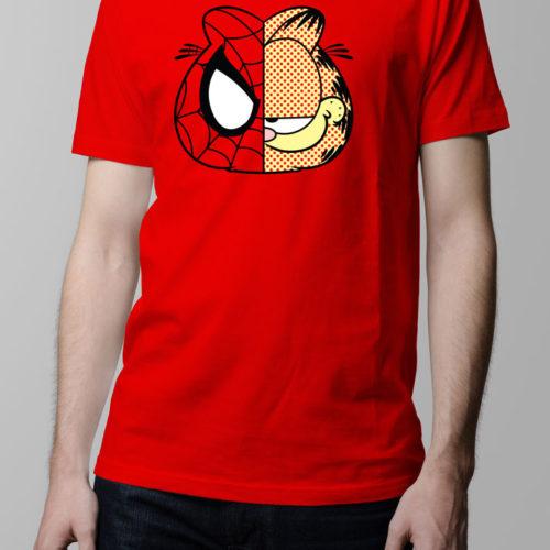 Garfield Spiderman Men's T-shirt - red