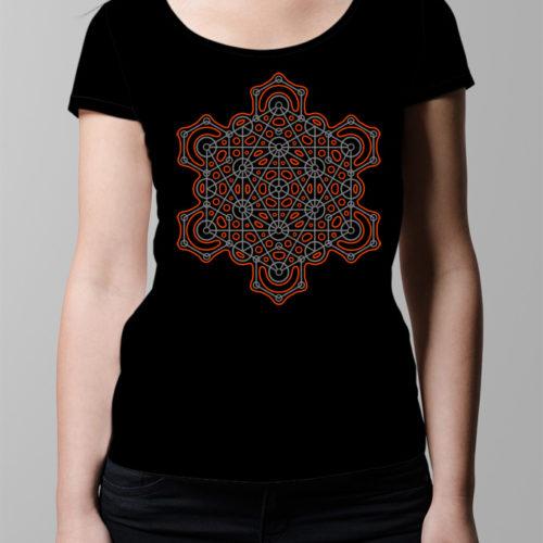 Hex Geometric Men's T-shirt - black