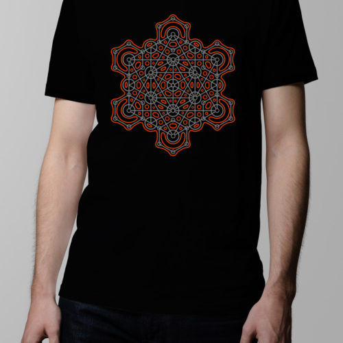 Hex Geometric Men's T-shirt - black