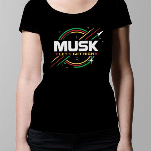 Elon Musk SpaceX Ladies' T-shirt - black