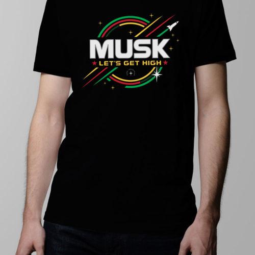 Elon Musk SpaceX Men's T-shirt - black