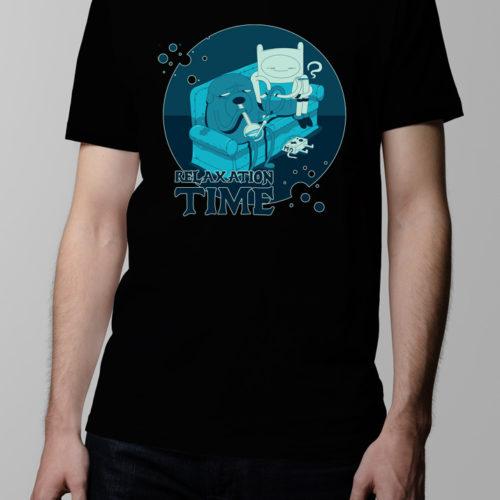 Adventure Time Men's T-shirt - black