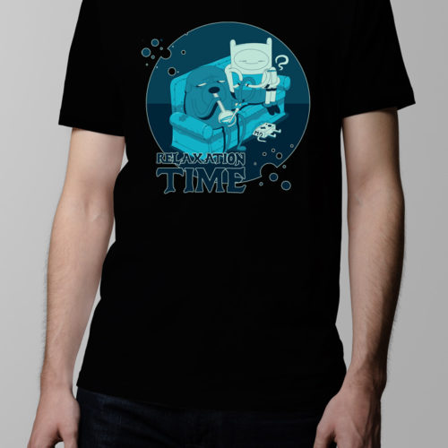 Adventure Time Men's T-shirt - black