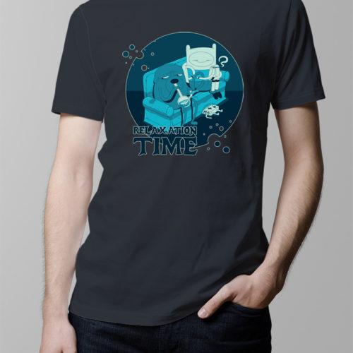 Adventure Time Men's T-shirt - charcoal