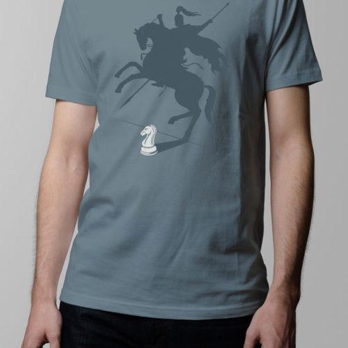 Think Big Chess Men's T-shirt - steel