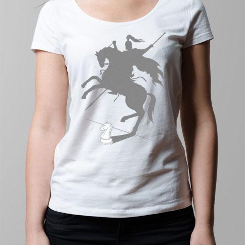 Think Big Chess Ladies' T-shirt - white