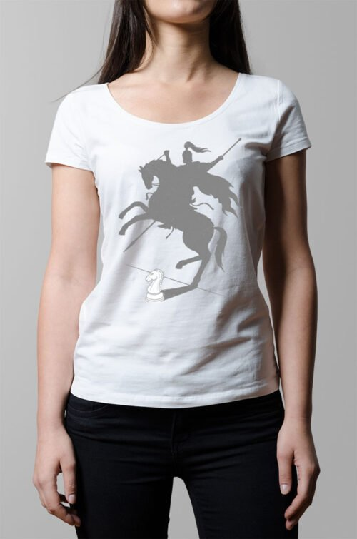Think Big Chess Ladies' T-shirt - white