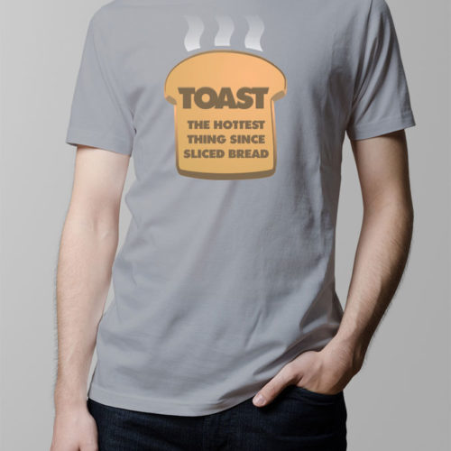 Toast Hottest Thing Men's T-shirt - steel