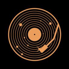 vinyl system black t-shirt