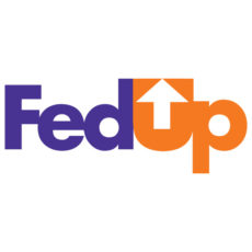 fed up fedex arrow white t-shirt