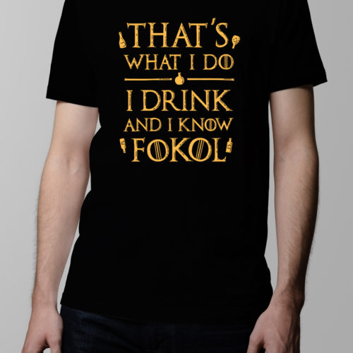 That's what I do Game of Thrones Men's T-shirt - black