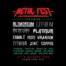 metal fest tour of doom black t-shirt