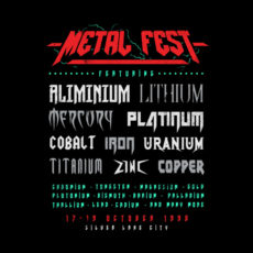 metal fest tour of doom black t-shirt
