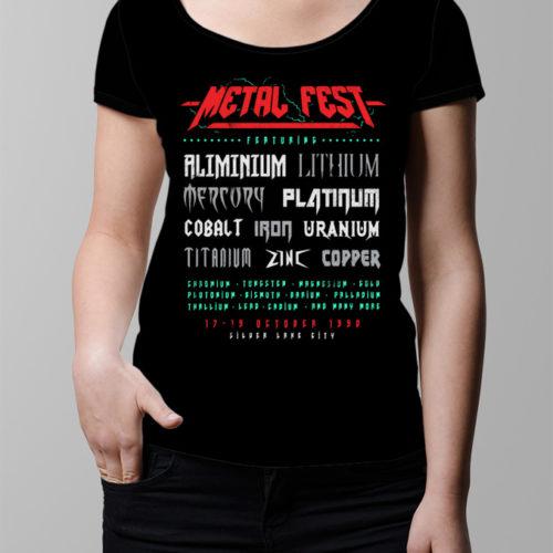 Metal Fest Ladies' T-shirt - black