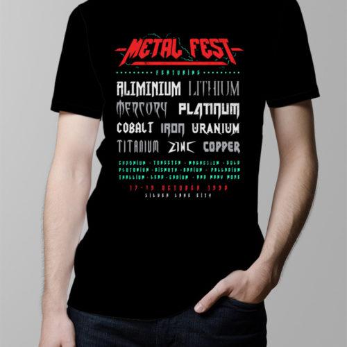 Metal Fest Men's T-shirt - black