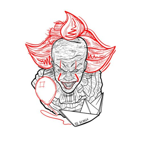 pennywise stephen king's it white t-shirt
