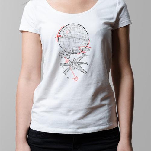 Star Wars Rebellion Ladies' T-shirt - white